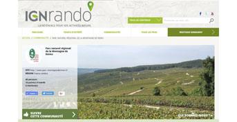Les sentiers du Parc sont disponibles sur IGNrando'