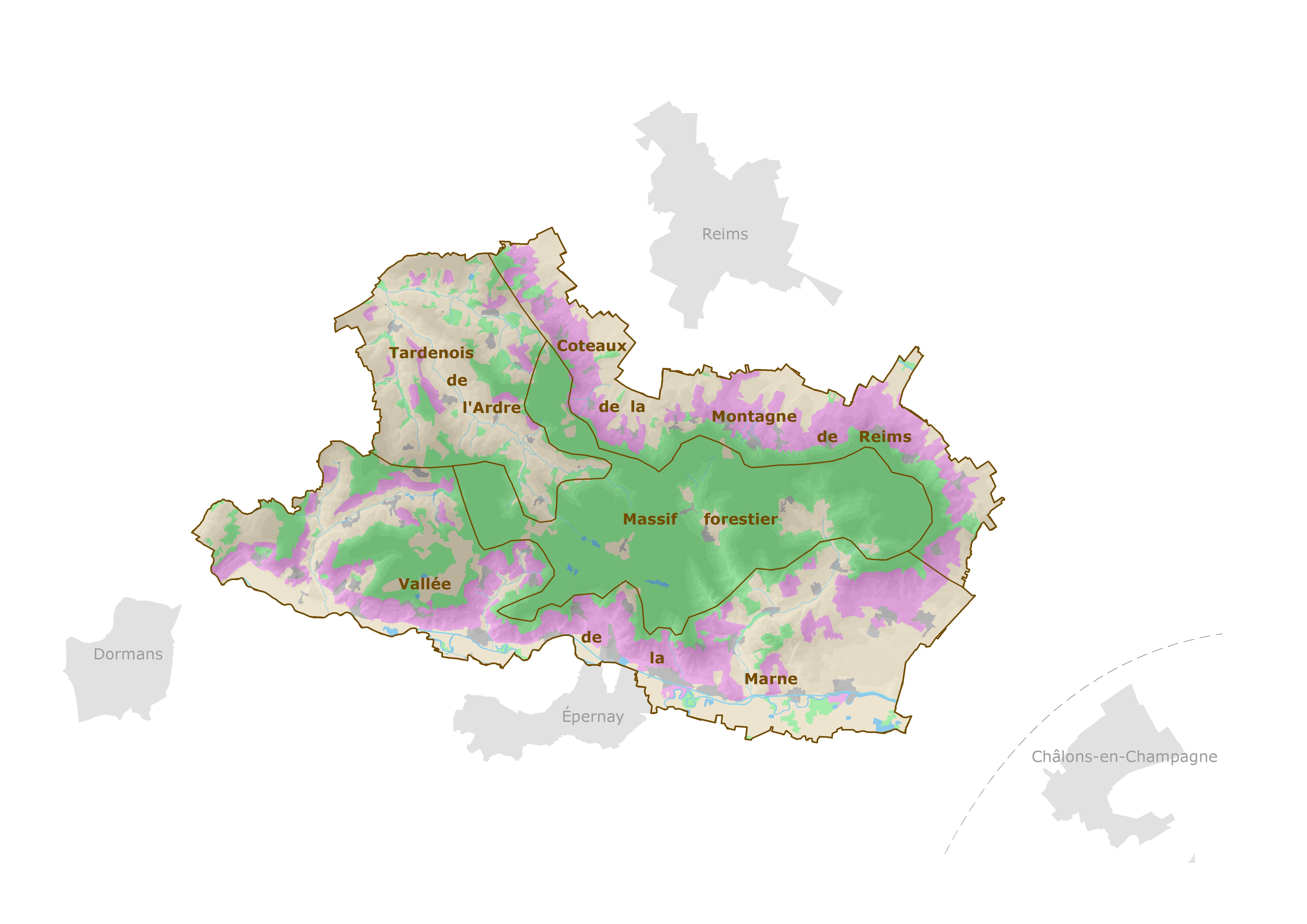 4 régions naturelles