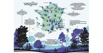 La carte commentée des 53 Parcs naturels régionaux